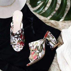 🆕//The Penelope// Summer printed Satin Mule